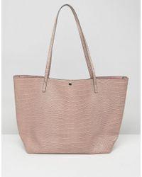ASOS - Croc Bonded Shopper Bag - Lyst
