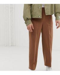 Noak - Wide Leg Pleated Smart Trousers In Pinstripe - Lyst
