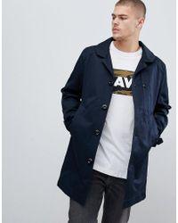 G-Star RAW - Garber Trench Coat In Navy - Lyst