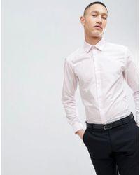 French Connection - Plain Poplin Slim Fit Shirt - Lyst