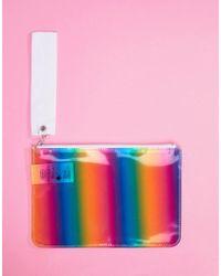 Monki - Rainbow Zip Pouch - Lyst