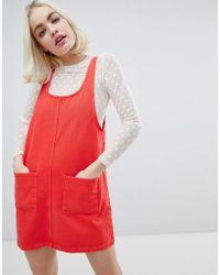 Monki - Denim Pocket Detail Denim Dress - Lyst
