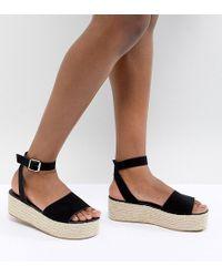 ASOS - Thear Espadrille Flatform Sandals - Lyst