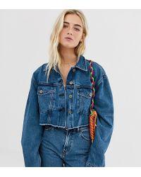 80bcfe1cbf18 Collusion - Giacca di jeans corta con fondo grezzo - Lyst