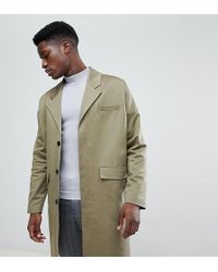 Noak - Cotton Duster Coat In Khaki - Lyst