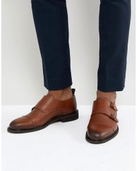 SELECTED - Leather Double Monk Shoes - Lyst