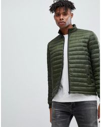 50c467dc Tommy Hilfiger - Lightweight Down Packable Puffer Jacket Flag Logo In Green  - Lyst