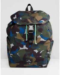 PS by Paul Smith | Canvas Floral Camo Backpack In Khaki | Lyst