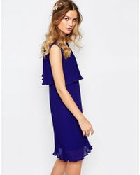Darccy - Pleated Cape Dress - Lyst