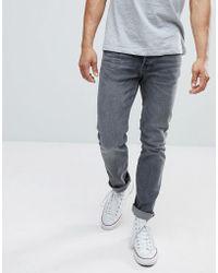 Mango - Man Slim Jeans In Grey - Lyst