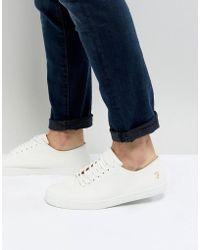Farah - Kiln Logo Sneakers In White - Lyst