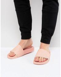Slydes - Cali Logo Slider Flip Flops In Pink - Lyst