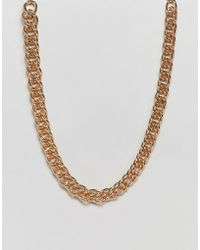 ASOS - Chunky Short Neckchain In Gold Tone - Lyst