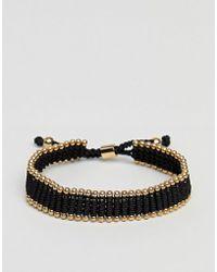 Vitaly   Diario Bracelet In Black & Gold   Lyst