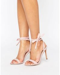 31e4606fb4f02 ASOS - Asos Henrietta Barely There Heeled Sandals - Lyst