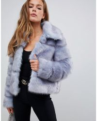 Missguided - Premium Crop Pelted Faux Fur Jacket - Lyst