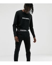 DIESEL - Logo Pyjama Set In Black - Lyst