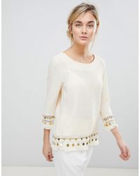 See U Soon - Tunic Top With Coin Embroidery - Lyst