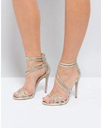 Miss Kg - Swirled Strappy Heeled Sandal - Lyst