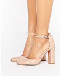 London Rebel | Heeled Shoe With Detailed Ankle Strap | Lyst