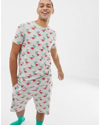 ASOS - Pyjama Top In Christmas Dinosaur Print - Lyst