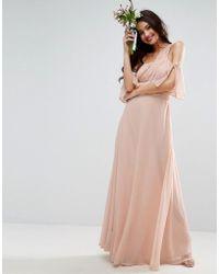 ASOS - Design Bridesmaid One Shoulder Maxi Dress - Lyst