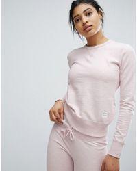 Converse - Essentials Sweatshirt In Pink - Lyst