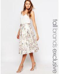 True Decadence | Floral Jacquard Midi Skirt | Lyst