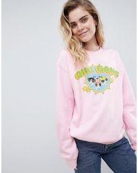 Daisy Street - X Powerpuff Girls Sweatshirt With Girl Gang Logo - Lyst