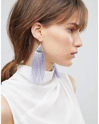 ASOS - Folded Metal Colour Pop Tassel Earrings - Lyst