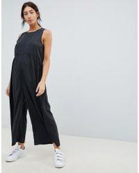 ASOS - Asos Design Maternity Minimal Jumpsuit With Ruching Detail - Lyst