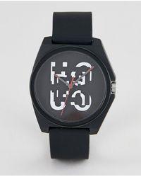 HUGO - 1520004 Play Silcone Strap Watch In Black 42mm - Lyst