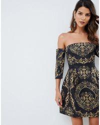 ASOS - Bardot Mini Dress In Chain Print - Lyst