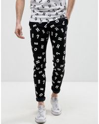 House of Holland - X Lee Lettering Malone Super Skinny Jeans - Lyst