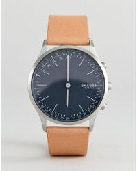 Skagen - Connected Skt1200 Jorn Leather Hybrid Smart Watch In Tan - Lyst