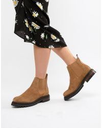 Hudson Jeans - London Camel Suede Chunky Chelsea Boots - Lyst