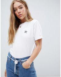 f031748b0ea5 Lyst - adidas Originals Originals Oversized T-shirt With Inked Print ...
