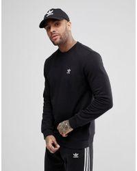 adidas Originals - Adicolor Sweatshirt In Black Cw1232 - Lyst