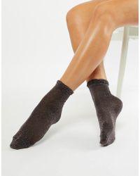 Monki - Sparkly Socks In Multi Coloured Lurex - Lyst