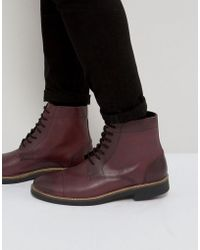 Frank Wright - Military Lace Up Boots In Hi Shine Ox - Lyst