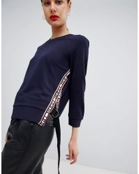 HUGO - Lux Sweater With Logo Detailing - Lyst