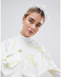 ASOS - White Flower Crown Headband - Lyst