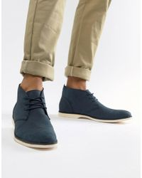 New Look - Chukka Boots In Navy - Lyst