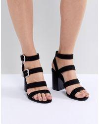b90c474654f0 Dorothy Perkins Black  summers  Western Sandals in Black - Lyst