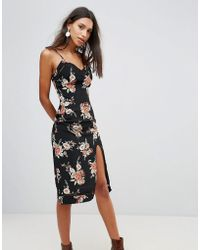 MINKPINK - Wallflower Split Slip Dress - Lyst