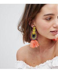 Glamorous - Tassel & Bead Statement Earrings (+) - Lyst