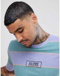Globe - Moonshine Striped T-shirt With Logo In Lilac - Lyst