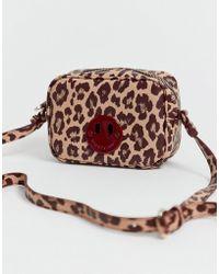 7f0c088d04 Hill & Friends - Hill And Friends Happy Mini Leather Camera Bag In Blush  Leopard -