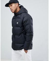 adidas Originals - Reversible Hooded Puffer Jacket In Black Dh5003 - Lyst