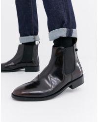 Farah - Jeans High Shine Chelsea Boots - Lyst